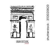 france urban sketch. paris  ... | Shutterstock .eps vector #353020820
