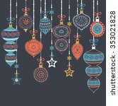set of christmas ornament...   Shutterstock .eps vector #353021828
