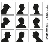 people profile silhouettes | Shutterstock .eps vector #353039663