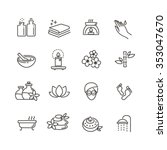 spa icons   Shutterstock .eps vector #353047670