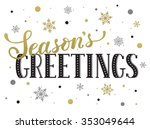 seasons greetings postcard... | Shutterstock .eps vector #353049644