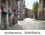 empty streets of the old town... | Shutterstock . vector #353050616