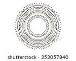 hand drawn flower mandala for...   Shutterstock .eps vector #353057840