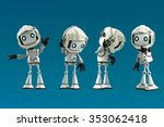 funny little humanoid robots... | Shutterstock . vector #353062418