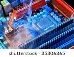 damaged electronic pc component | Shutterstock . vector #35306365