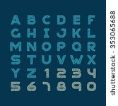 maze tech letters linear style... | Shutterstock . vector #353065688