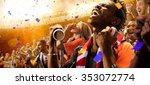 stadium black skin african... | Shutterstock . vector #353072774