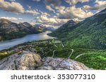 mountain top views overlooking...   Shutterstock . vector #353077310