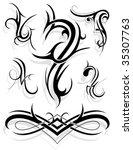 design elements  tribal art | Shutterstock .eps vector #35307763