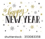 happy new year postcard... | Shutterstock .eps vector #353083358
