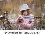 funny shaggy girl in jacket ...   Shutterstock . vector #353085764