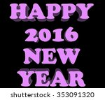happy new year postcard | Shutterstock . vector #353091320
