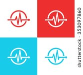 medical logo concept. health... | Shutterstock .eps vector #353097860