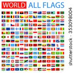 all world vector flags   vector ... | Shutterstock .eps vector #353098004