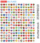 round glossy all world vector... | Shutterstock .eps vector #353098010