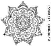 mandala. round ornament   Shutterstock .eps vector #353105024