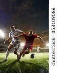 soccer players in action on...   Shutterstock . vector #353109086