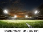 empty night grand soccer arena... | Shutterstock . vector #353109104
