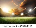 empty sunset grand soccer arena ... | Shutterstock . vector #353109119