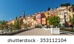 Colorful Houses Of Menton Old...