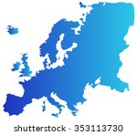 europe map on a white background | Shutterstock .eps vector #353113730