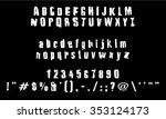 english font set. alphabet ... | Shutterstock .eps vector #353124173