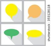 comic speech bubble sign icon....