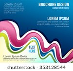 illustrated colorful layout... | Shutterstock .eps vector #353128544