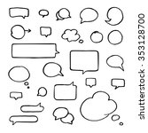 set of black hand drawn talking ...   Shutterstock .eps vector #353128700