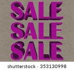 sale sign | Shutterstock . vector #353130998