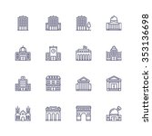 buildings icons | Shutterstock .eps vector #353136698