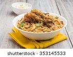 authentic chicken biryani... | Shutterstock . vector #353145533