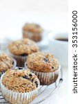 Small photo of Healthy wholewheat bran muffin, a nutritious and fibre rich breakfast and snack