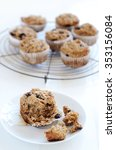 Small photo of Healthy wholewheat bran muffin, a nutritious and fibre rich breakfast
