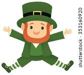 Leprechaun Leaping Into The Air