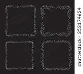 hand drawn doodle floral laurel ... | Shutterstock .eps vector #353174624