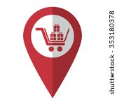 gift   vector icon  red map ...