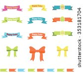 collection of colored ribbons... | Shutterstock .eps vector #353181704