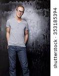 good looking men  studio shot ... | Shutterstock . vector #353185394