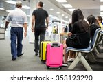 selested focus on  luggage... | Shutterstock . vector #353193290