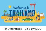 flat design  thai icons and... | Shutterstock .eps vector #353194370
