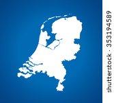 map of netherlands | Shutterstock .eps vector #353194589