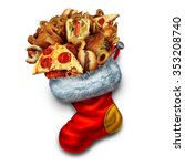 unhealthy holiday eating symbol ... | Shutterstock . vector #353208740