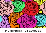 rose seamless pattern. vector...