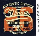 retro graphic for t shirt   | Shutterstock .eps vector #353210303