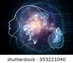 human tangents series. creative ...   Shutterstock . vector #353221040