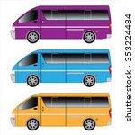 passenger van car | Shutterstock .eps vector #353224484