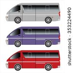 passenger van car | Shutterstock .eps vector #353224490
