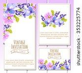 vintage delicate invitation... | Shutterstock .eps vector #353225774