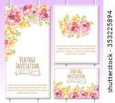 vintage delicate invitation... | Shutterstock .eps vector #353225894